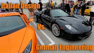 Italian Design Vs. German Engineering at South OC Cars & Coffee