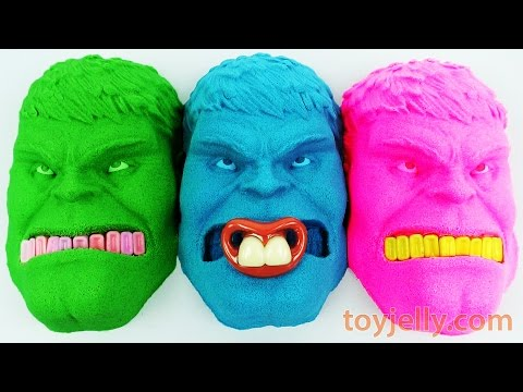 Kinetic Sand Hulk Baby Pacifier Mask Mold Play Dentist Slime Toothpaste Electric Toothbrush for Kids