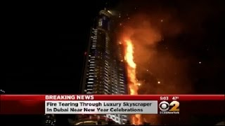 Fire Rages At Dubai Tower
