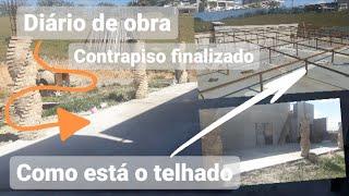 DIÁRIO de REFORMA contra piso da casa toda finalizada + Como que está o telhado