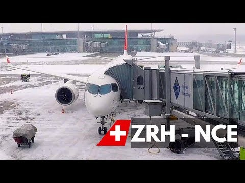 FLIGHT REPORT | SWISS AIRBUS A220 / CS 300 (economy) | ZURICH - NICE
