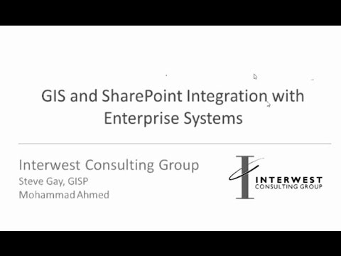 GIS and SharePoint Integration with Enterprise Systems