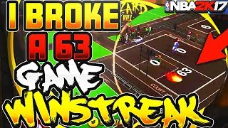 NBA 2K17 - Dropping off a 63 GAME WIN STREAK After 2k CHEATED Me!!