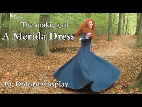 How to make a Merida Dress (Time Lapse)