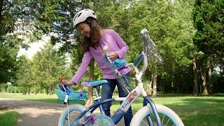 Disney Frozen 16-Inch Bike with Sleigh Doll Carrier by Huffy
