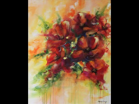 Abstract Floral Painting | Acrylic on Canvas | Art | Delight