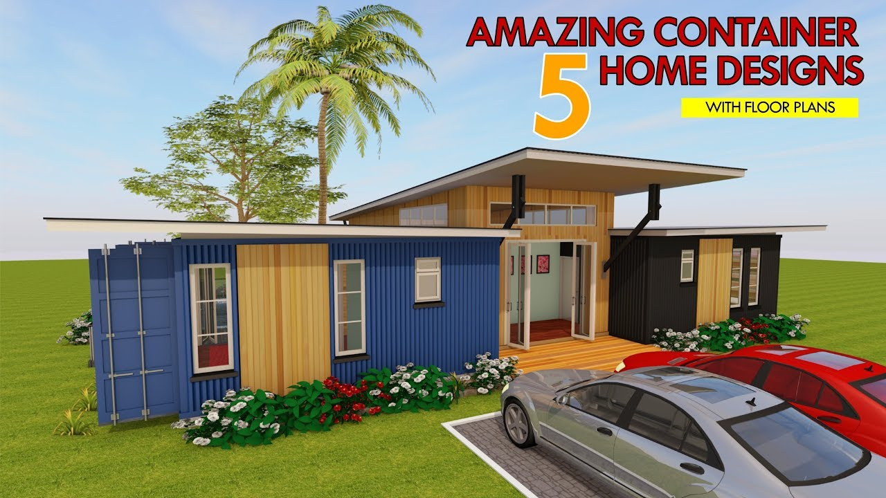 Best 5 Modern Shipping Container House Designs With Floor