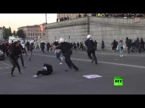 مظاهرة تضامنا مع جورج فلويد في ستوكهولم والشرطة تفرق المحتجين  - نشر قبل 3 ساعة