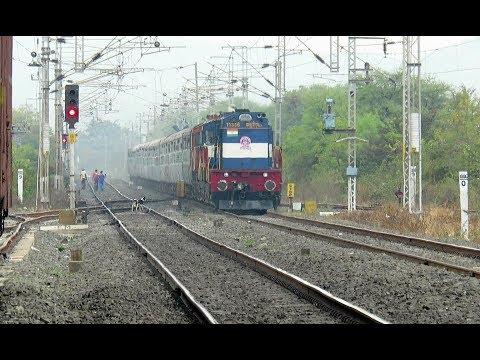 TWIN DIESEL BLASTERS : Rewa Nagpur Express with KYN WDM3D Twins Thrashes Kohli : INDIAN RAILWAYS