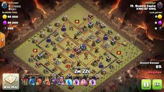 Destroying TH10 with Electro dragon osm attack