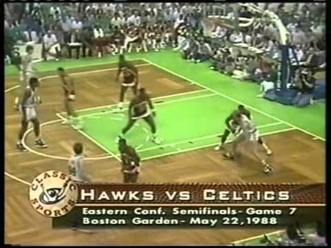 Larry Bird 34 pts vs D.Wilkins 47 pts, playoffs 1988 celtics vs hawks game 7