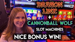 First Time Trying Cannonball Wolf Slot Machine! AWESOME BONUS WIN!!!