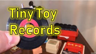 70s and 80s Mini Record Players and Tiny Records!!