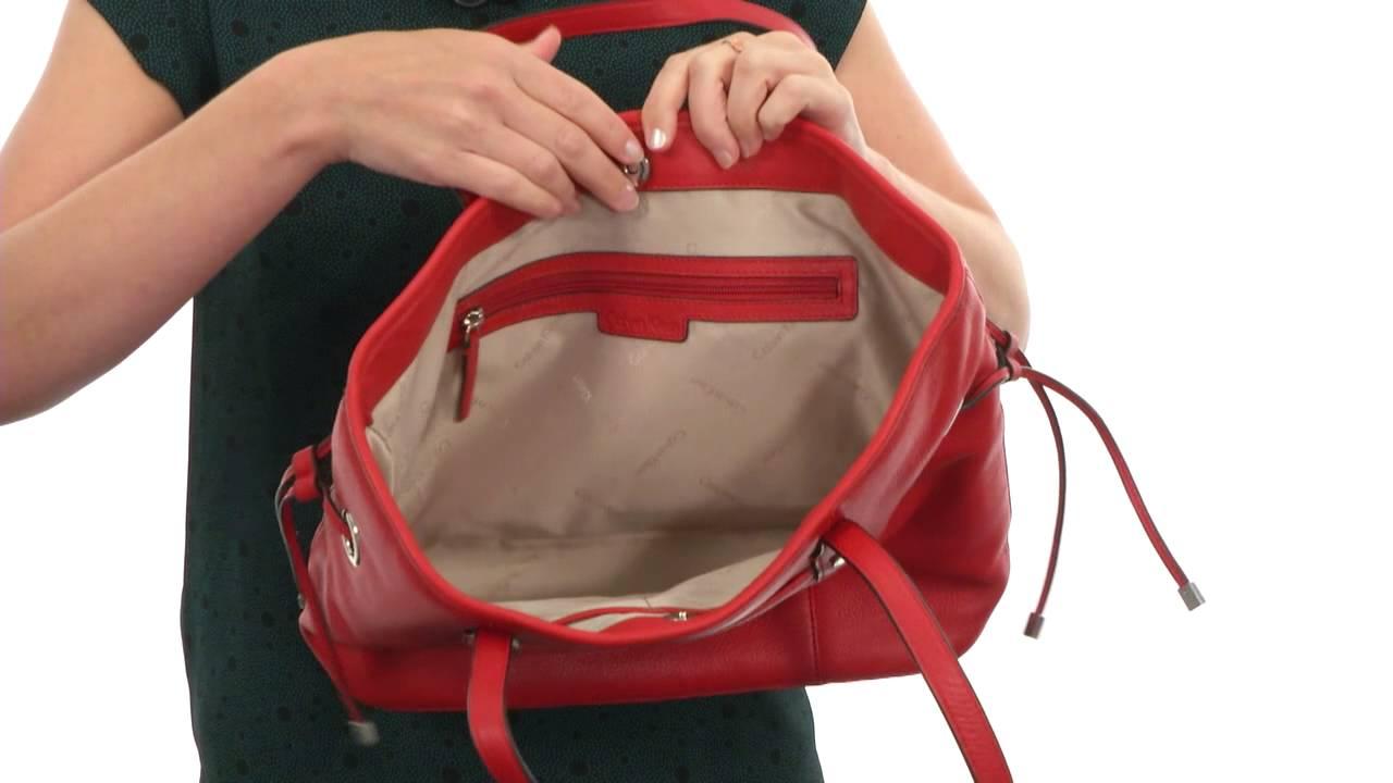 3905f24fca3fc Calvin Klein - Key Item Pebble Leather Tote SKU  8375808 - YouTube