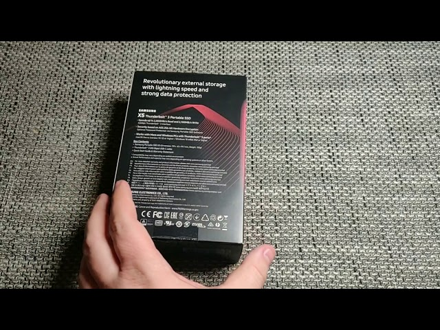 Unboxing Samsung  X5 Portable SSD