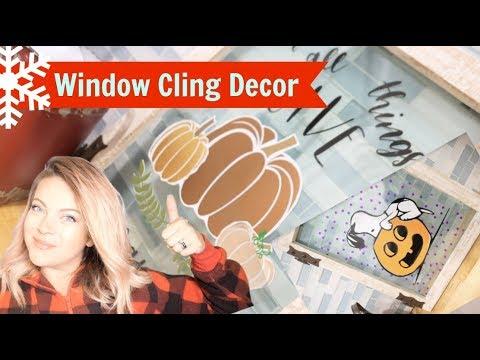 DIY Holiday Window Cling Decor