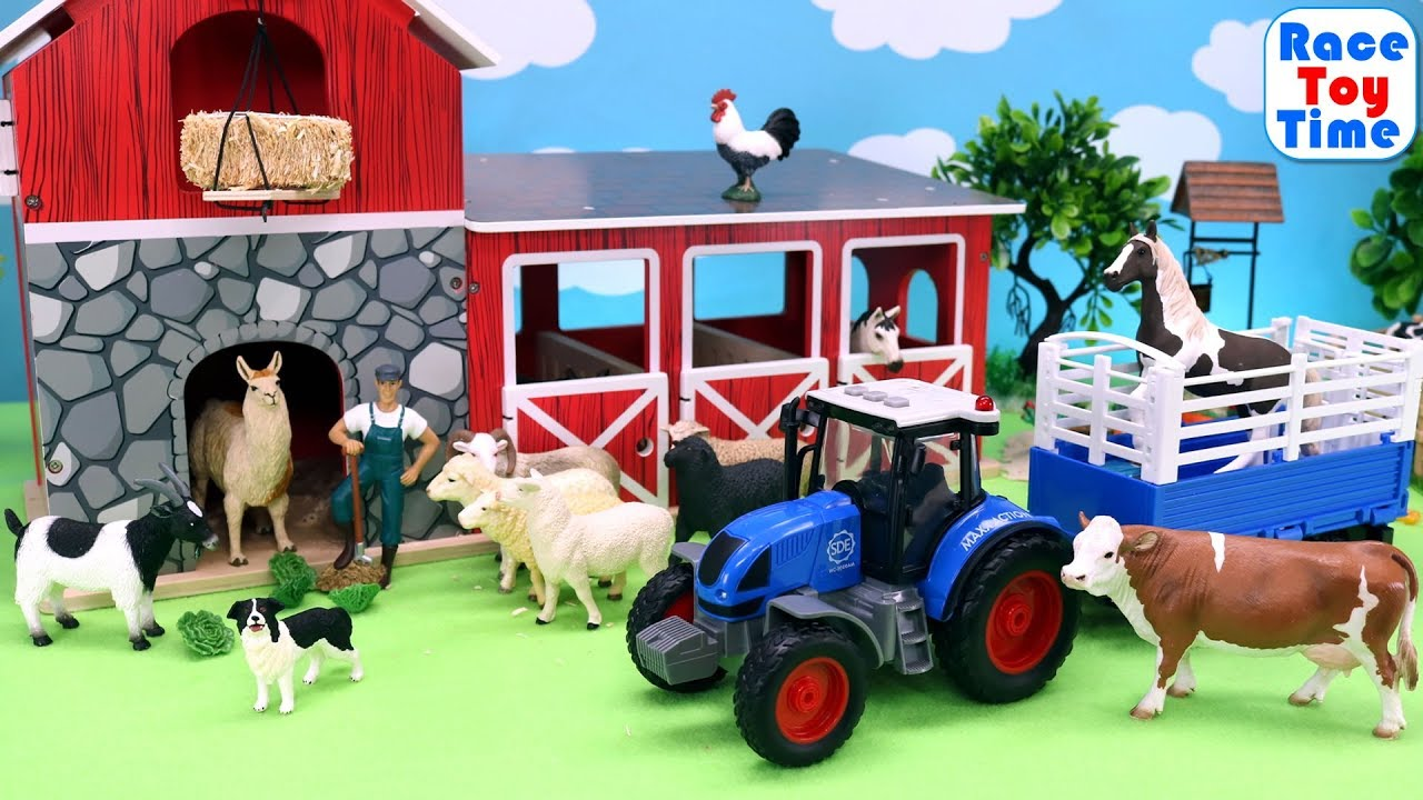 Toy Farm Animals in the Barn - Fun Animal Toys For Kids ...