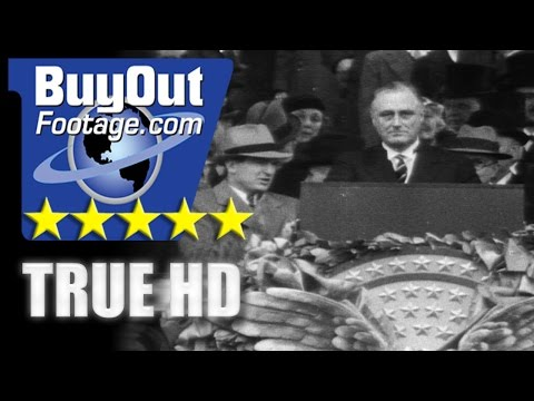 HD Historic Stock Footage FDR INAUGURATION 1933... IS FEAR ITSELF
