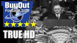 HD Historic Stock Footage FRANKLIN D. ROOSEVELT INAUGURATION 1933
