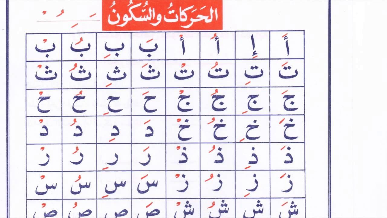 الدرس الأول من كتاب هيا بنا نحفظ القرآن الحركات و السكون وكيف