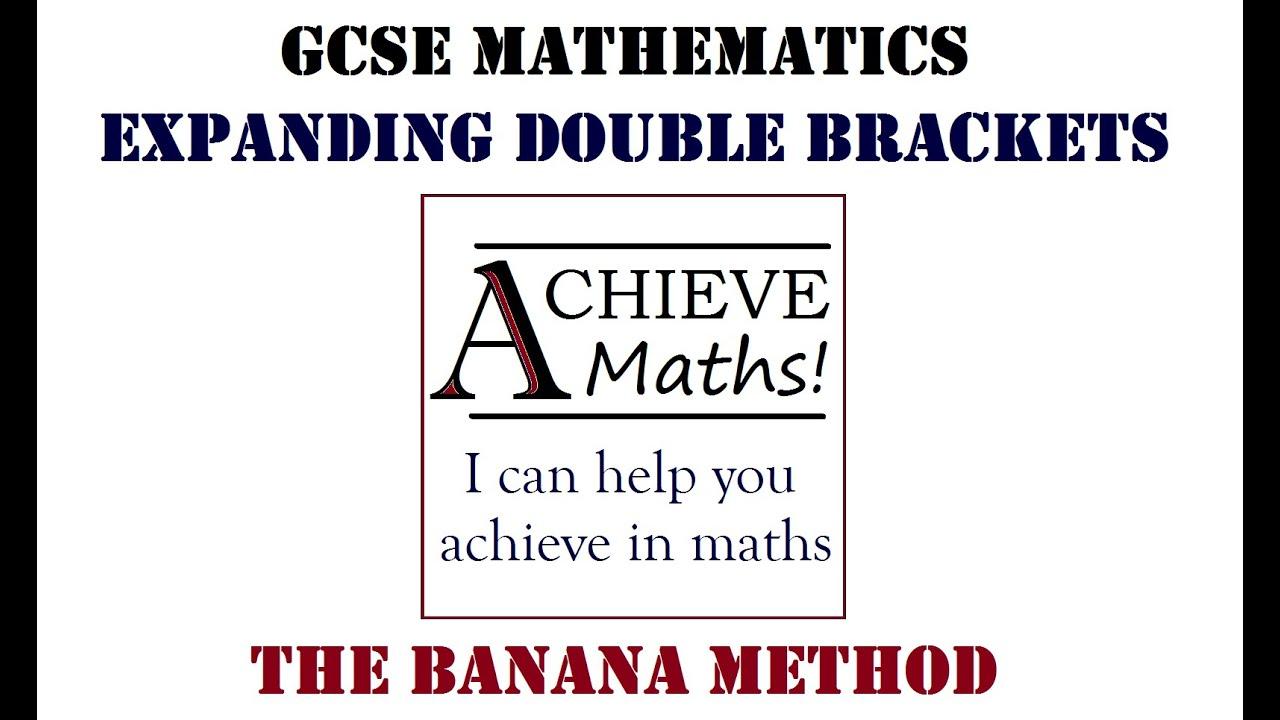 math worksheet : gcse maths the banana method  expand double brackets  youtube : Double Brackets In Math