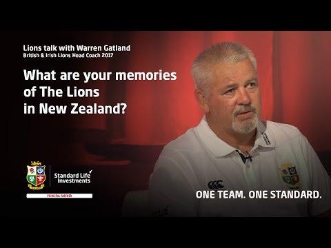 Lions Talk with Warren Gatland - Memories of The Lions in New Zealand