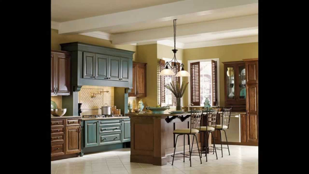 Two tone kitchen cabinets - YouTube