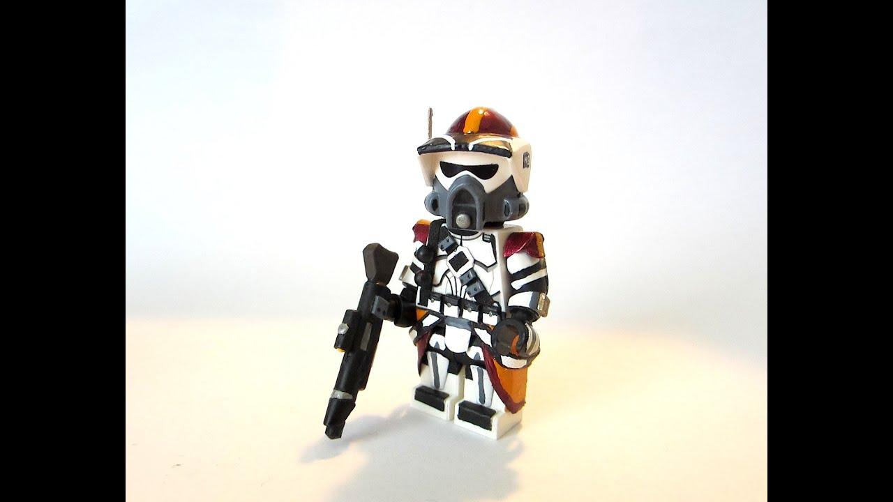 You Pick I Paint #6 Custom Lego - Star Wars : Clone ARF Trooper