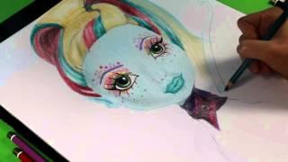 Lagoona Blue - Great Scarrier Reef / Podwodna Straszyprzygoda - Monster High - Speed Drawing
