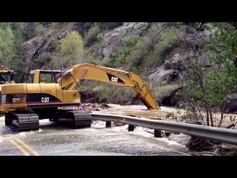 Boulder Colorado Flood 2013 4 mile canyon rd @ poorman *update* 9/17