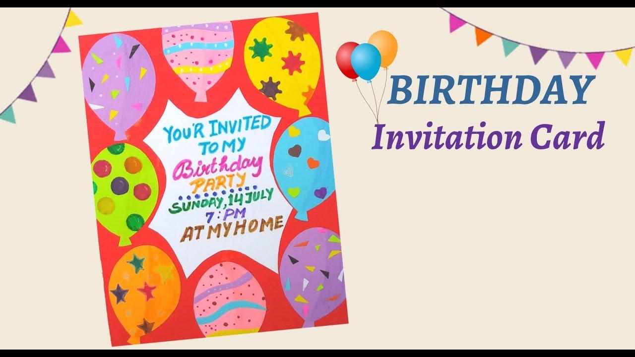 DIY Birthday Invitation Card  Invitation Card for Birthday  Birthday  Invitation Card Ideas