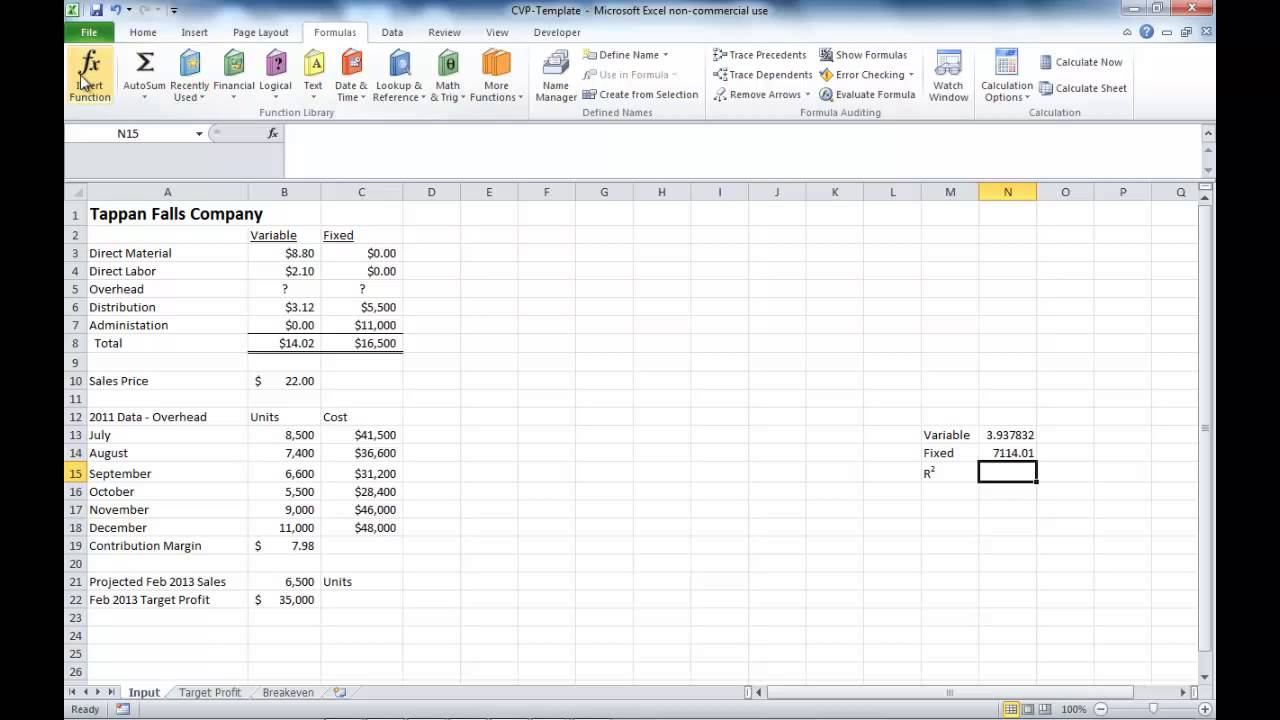 Cost formula with excel youtube for Cost to build calculator free