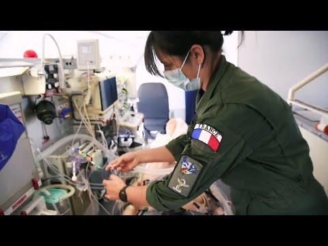 Formation du personnel du Service de santé des armées sur le module Morphée de l'A330 Phénix