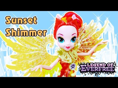 Обзор куклы Сансет Шиммер с крыльями - Legend of Everfree