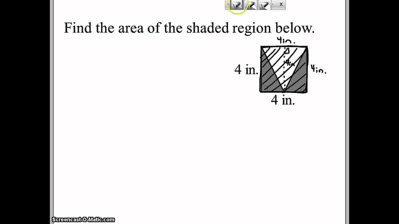 Find The Area Of The Shaded Region