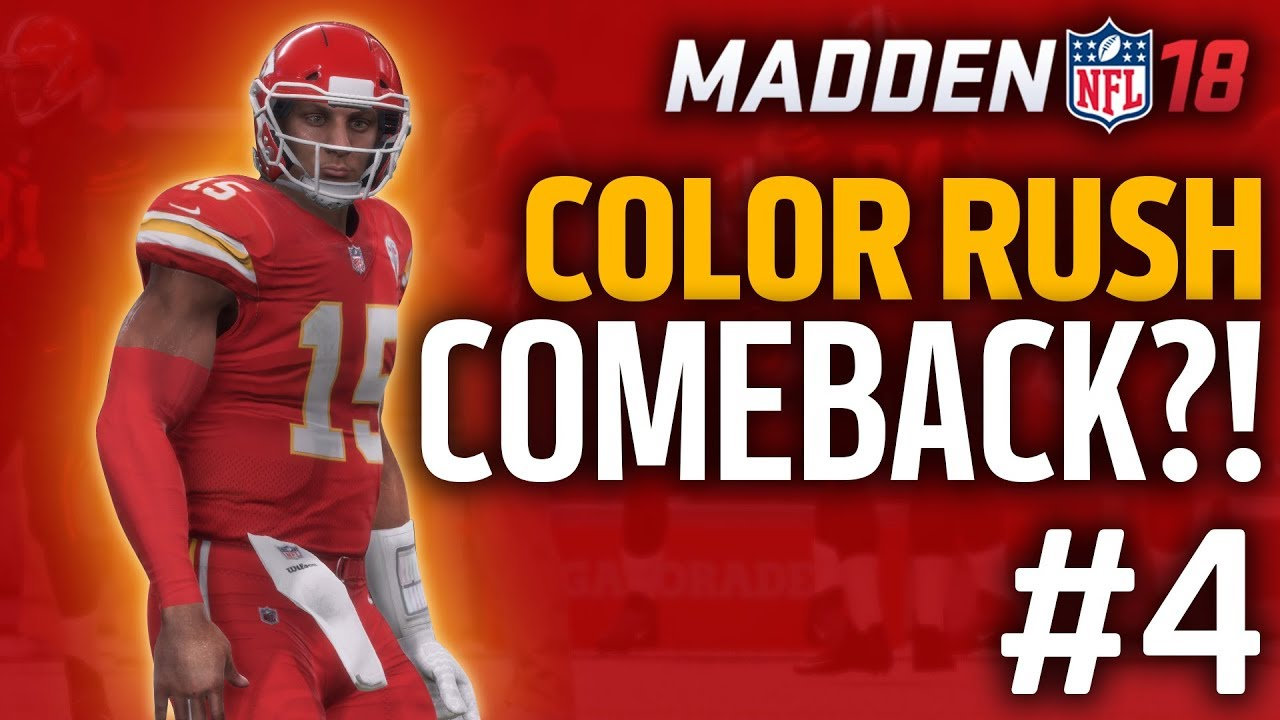 new style e96c8 7d206 COLOR RUSH COMEBACK?! | Madden 18 Chiefs Franchise (Ep. 4)