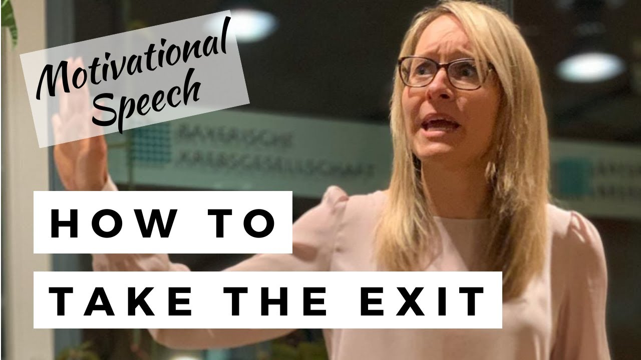 """Toastmasters Contest Speech """"Take the exit before the pain becomes unbearable"""""""