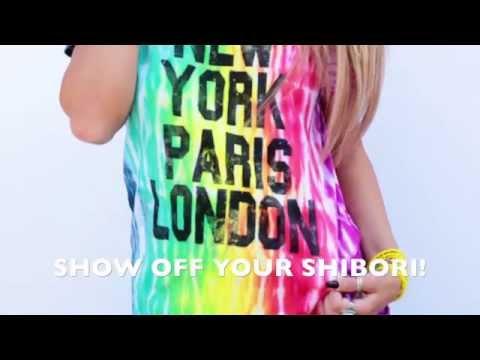Rainbow Shibori Graphic Tee DIY