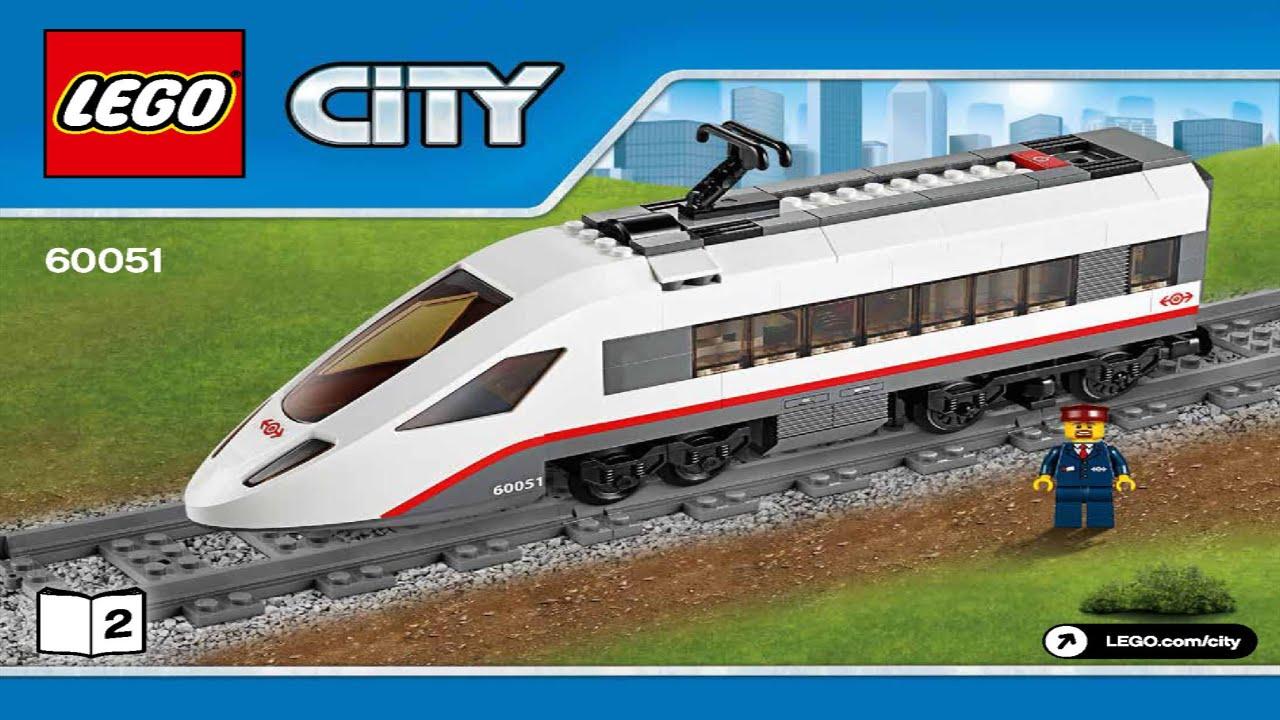 Lego 60051 High Speed Passenger Train City Trains Instruction