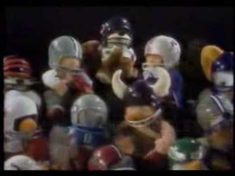 NFL Huddles commercial with Lyle Alzado of the Raiders