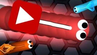 Brand NEW YOUTUBE Skin - Slither.io Youtube Skin Gameplay - Longest/Biggest Snake Gameplay!
