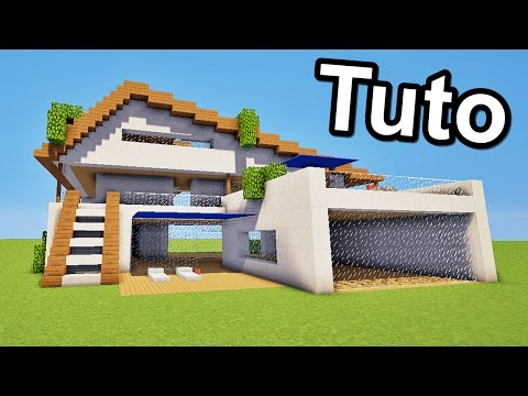 Comment faire une maison moderne facilement tuto mine for Maison moderne minecraft xbox one