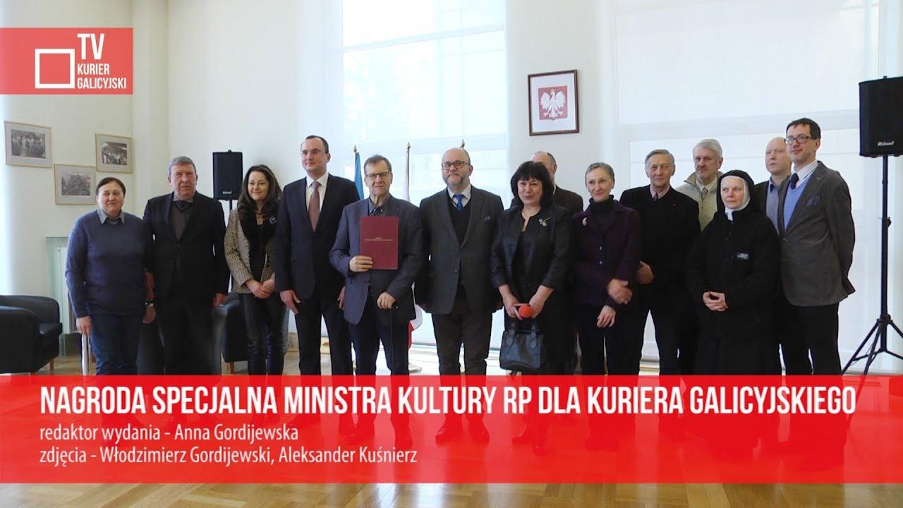 Nagroda specjalna ministra kultury RP dla Kuriera Galicyjskiego
