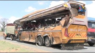 25 people die after Mombasa bound bus collides with oil tanker