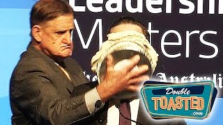 QANTAS AIRWAYS CEO GETS PIE TO THE FACE - Double Toasted Funny Podcast Highlight
