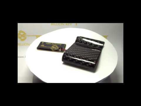 """Money Clip Billion Key 100% Carbon Fiber (7cm / 2,75"""")"""