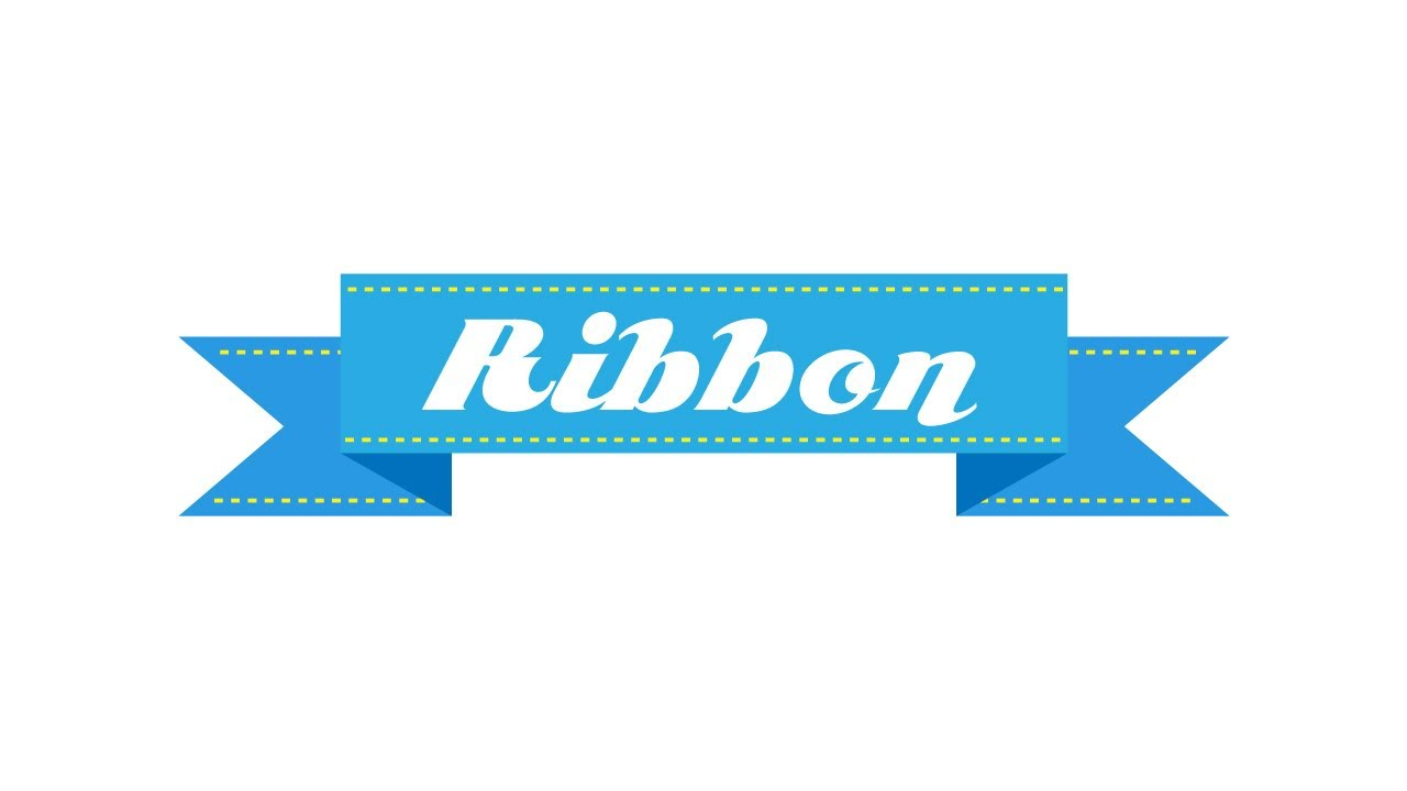 illustrator tutorial how to make a straight ribbon banner youtube