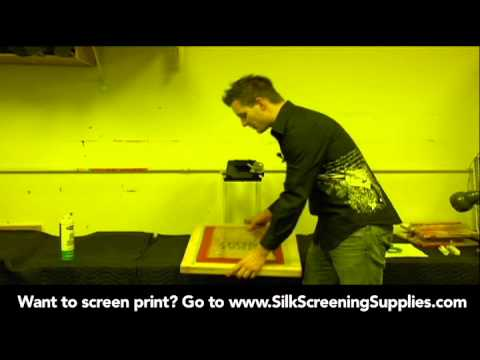 How to Screen Print - Basic Exposure - Detailed instruction - Screen Printing 101 DVD pt 17