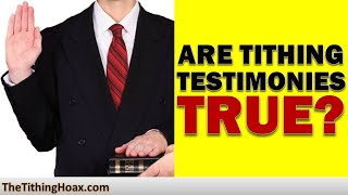 Tithing Testimonies – What Preachers Don't Tell You | The Tithing Hoax