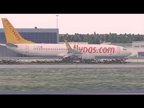 Pegasus Airlines B737 Runway Overrun Crash,Istanbul Sabiha Gokcen Airport - [Flight PC747]